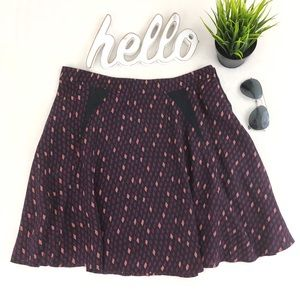 FRENCH CONNECTION A-line Print Skirt 10